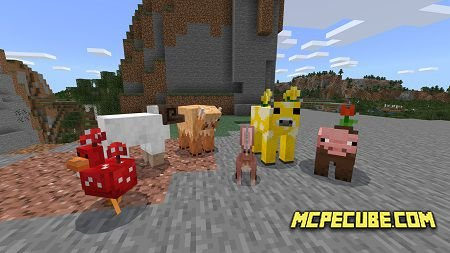 Minecraft Earth Mobs Plus Addon 1.13/1.12+